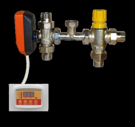 Compact motorised kit solar system - boiler