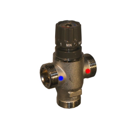 Thermostatic mixer for DHW in plants without solar thermal systems