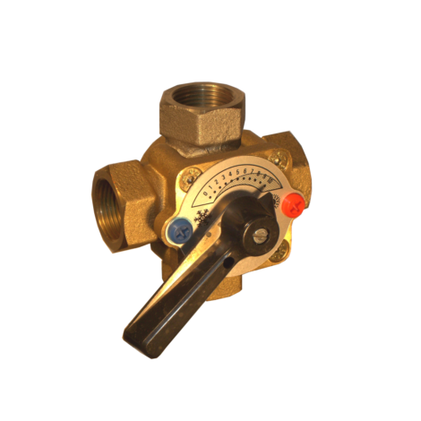 4-way rotor mixing valve
