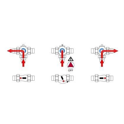 3-way diverter L bored valve